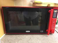 Delonghi red microwave
