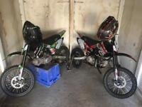 2 x M2R pit bikes for swaps
