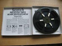 """8 1/4"""" used Metal reel tape boxed"""