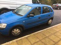 Vauxhall corsa, 1.2, 5 door, 12 months MOT