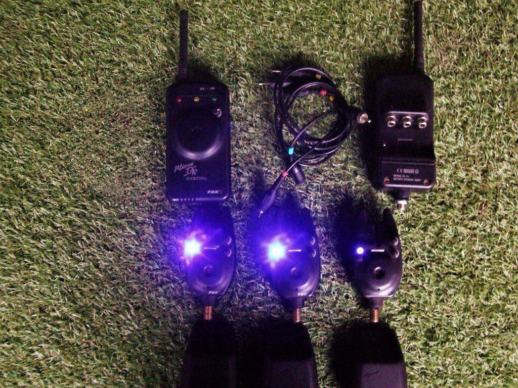 Fox MX Alarms x 3 Plus Fox TXR Reciever & Cables.