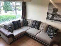 Corner sofa and swirly chair