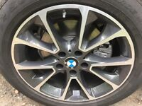 BMW X5 X6 19inch Alloys with Run Flat Tyres