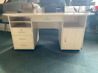 COMPUTER DESK WITH DRAWERS LOTS OF STORAGE & SLIDING DRAW