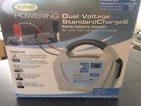6v & 12v / 6AMP DUAL VOLTAGE RING BATTERY CHARGER - RCB206