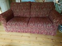 Matching sofa and sofa bed with free cushions and footstool