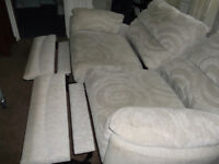 double sofa with controller Good condition slight discolouration due to use a