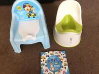 Potty x 2 and potty training book for boys