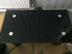 Black glass coffee table great condition