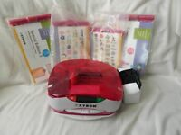 SET 2 STAMP SETS &120+LOOSE STAMPS AND XYRON CUTTING MACHINE (LIKE NEW)