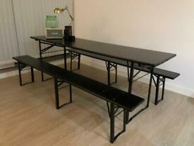 Dining table set (table + benches)