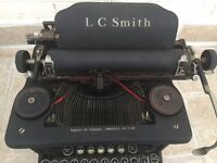 L C Smith Vintage Typewriter