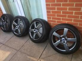 """Volvo 17"""" alloys genuine with new tyres"""
