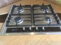 Neff 4-burner stainless steel hob.