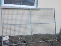 2x Galvanised Dog Run Panels