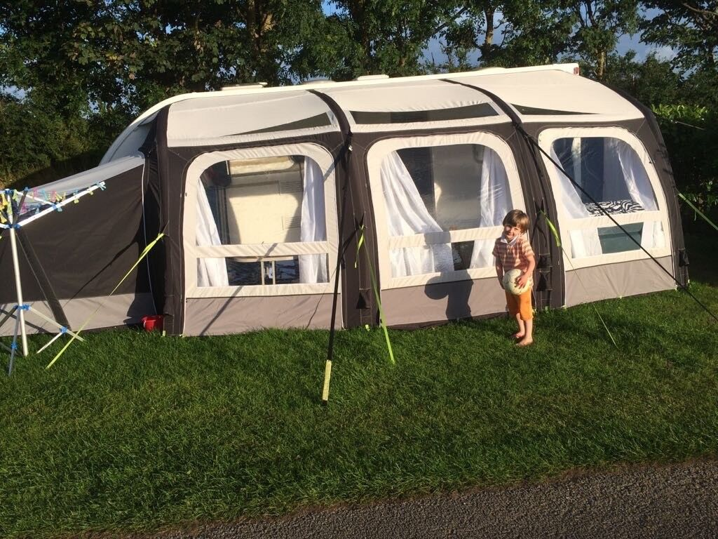 Kampa Ace Air 500 Awning 2016 With Fitted Carpet Annexe