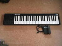 Alesis V49 mid USB keyboard with sustain pedal