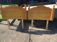 2 wooden headboards