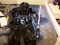 Star Wars Costume Age 7-8yrs & Lightsaber ***NEVER WORN***