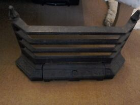 Cast iron black fire grate