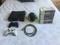 Xbox 360 slim 4GB, 2 controllers and 15 games