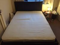 King size bed, Leather headboard + King Mattress - Great condition