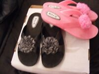 Black and Pink Millie Sandals Size 7