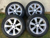 Set of Alloy Wheels and Tyres