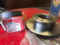 Brake disc and pads