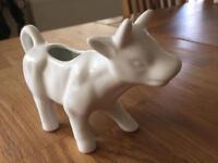 Novelty ceramic cow shaped milk/ cream jug (as New)