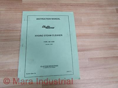 Clayton Industries 062777 Hydro Steam Cleaner Manual Se-150b S-809