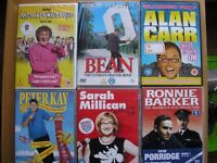 A selection of comedy DVDs.