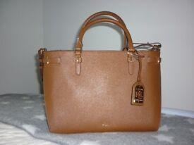 Ralph Lauren Tan Leather bag