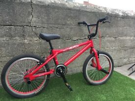 Conor skull certified BMX in flame red