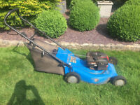 WENMARK 22 INCH SELP PROPELLED PETROL LAWNMOWER. NEEDS NEW DRIVE CABLE