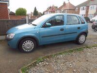 Vauxhall Corsa, 5 door hatchback, petrol, 2003, Low mileage