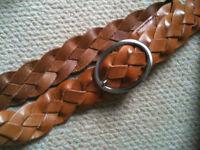 Tan Leather Ladies Belt