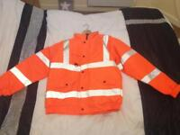 Orange Hi-Viz jacket. XL.