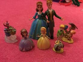 Disney Sofia figure set vgc