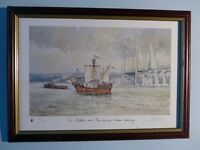 """Limited Edition Framed Print - The Matthew and the Second Severn Crossing"""""""