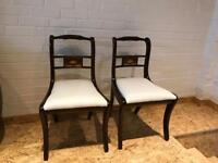 Six restored mahogany chairs mint condition. Delivery possible.
