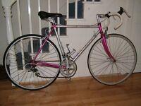 "Carrera light-weight road bike, 21""frame, Reynolds tubing"