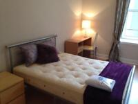 Immaculate spacious bedroom in a shared flat available to professionals & students