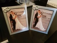 wedding picture framws new in box