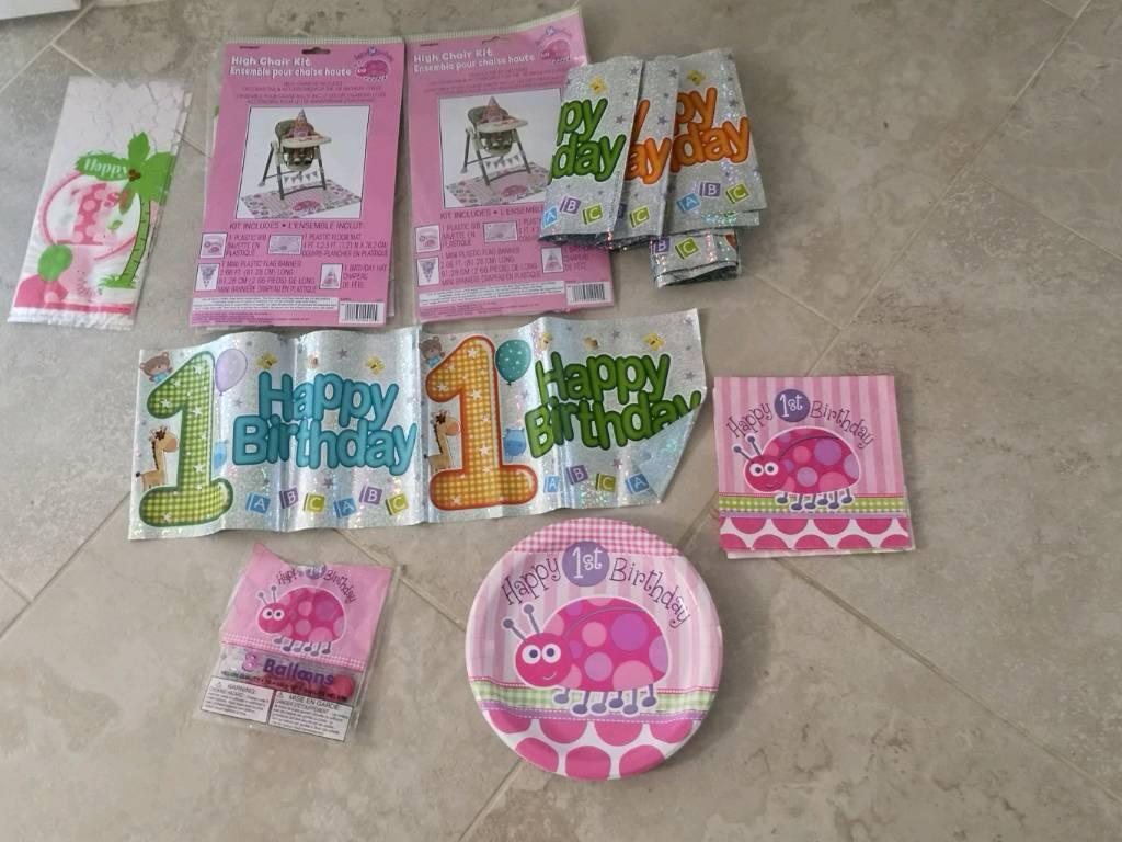 Free Girls First Birthday Stuff