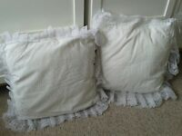 Vintage Handmade Lace and Embroidery Cushions