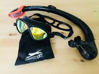 ADULT ONE SIZE Slazenger Mirror Goggles and Hot Tuna Snorkel