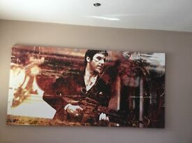 Large Scarface canvas