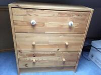 Children's pine chest of drawers