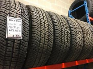 TRAX 0182 6- LT245/75R17 MICHELIN LTX AT2 10 ply load E dodge or ford dually new take offs $900 for all six tires